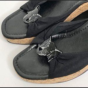 Donald J. Pliner Shoes - DONALD PLINER Slip-On Elephant Wedges Mules Black